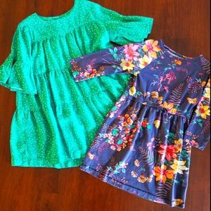 Duo of Girls Dresses Size XS 4/5
